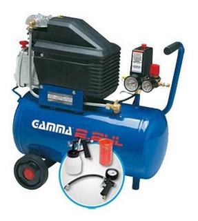 Compresor Gamma 24 Lts 2hp Con Accesorios G2801k