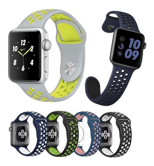 Pulseira Silicone Furo Nike Para Apple Watch 38mm Series 123