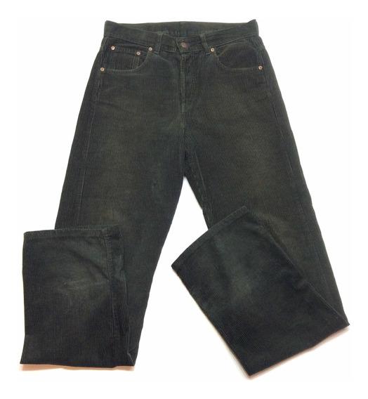 Pantalon De Corderoy Levis Modelo 542 W32 L34 Verde Oscuro
