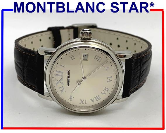 Autêntico Montblanc Meisterstuck Star Aço, Ref 7042, Lindo!