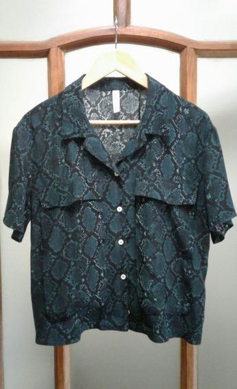 Camisa Blusa Manga Corta Marca Zara Talle M Impecable!