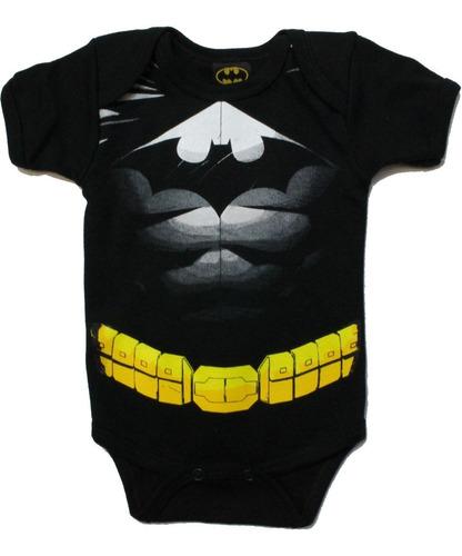 Imagen 1 de 4 de Pañalero Batman Disfraz Con Musculos Original - Ropa De Bebe