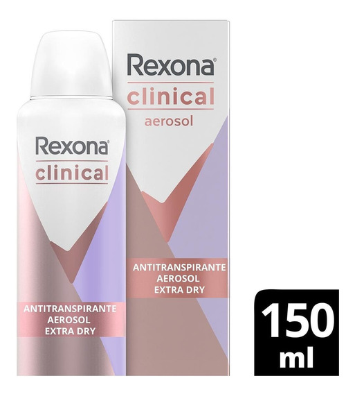 Antitranspirante Aerosol Extra Dry Rexona Clinical 150ml