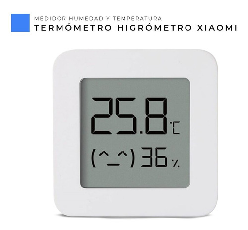 Imagen 1 de 6 de Termómetro Higrómetro Digital Xiaomi Humedad Temperatura
