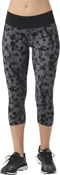 Legging Asics Mujer Gris W Interval Capri Ii Wf34190723