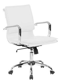 Cadeira De Escritório Diretor Eames Comfort Branca