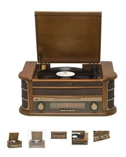 Denver Mcr-50mk2 Retro Wood Radio, Cd, Cassette, Usb, Mp3