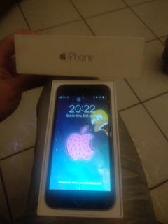 iPhone 6 16gb Carcaça Prateada, Vidro Do Touch Preto