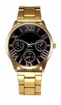 Relógiomasculino Banhado A Ouro18k Original Importado Barato
