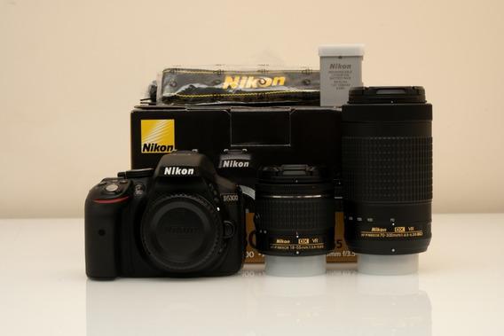 Câmera Nikon D5300 + 18-55mm + 70-300mm + Flash Yongnuo