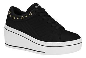 Tênis Sneaker Ramarim 1970105 Plataforma Feminino Preto