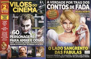 2 Revistas - Vilões Do Cinema E A Verdade Dos Contos De Fada