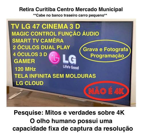 Está Em Curitiba Centro Tv47 LG Lb7000 Gamer Top Cinema 3 D