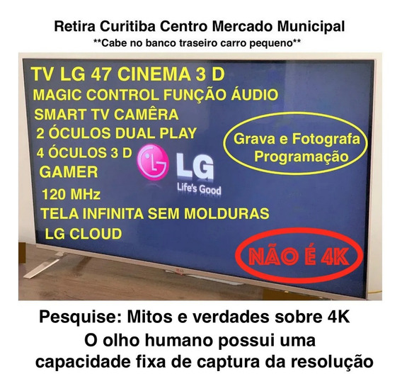 Tv47 LG Lb7000 Gamer Top Cinema 3 D Em Cuririba M. Municipal