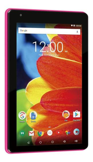 "Tablet RCA Voyager RCT6873W42 7"" 16GB rosa com memória RAM 1GB"