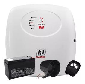 Kit Central Choque Cerca Elétrica Ecr18 Alarme Controle 12x