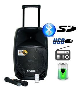 Parlante Potenciado Bafle 12 400w Bluetooth Usb Bateria 2mic