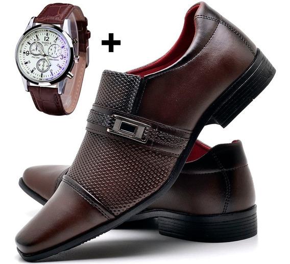 Kit Sapato Social Masculino + Relógio Yazole 271 Original