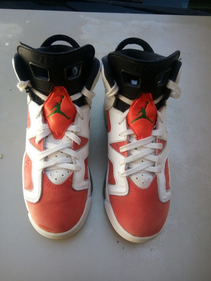 Air Jordan Retro 6 Gatorade Gs Originales # 25 Mex