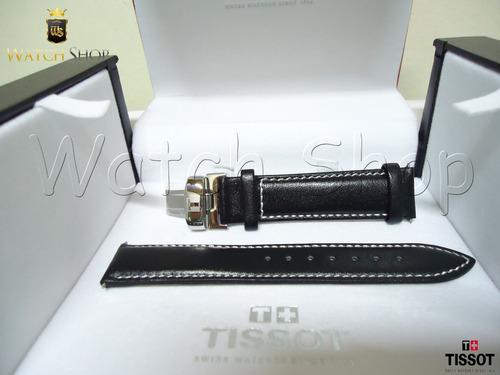 Pulseira De Couro Tissot Prs200 T067 19mm L /branca Original