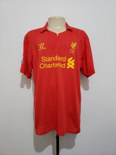 Camisa Futebol Liverpool Inglaterra 2012 Home Warrior
