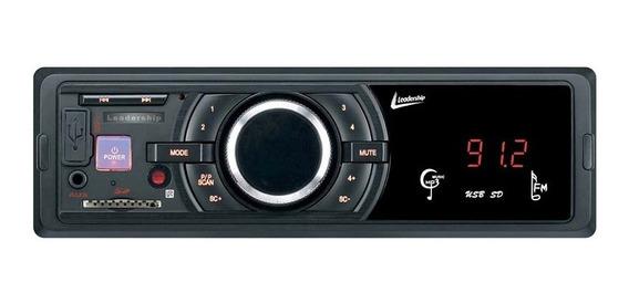 Rádio Player Automotivo Usb, Sdcard Mp3 Leadership Blackbird