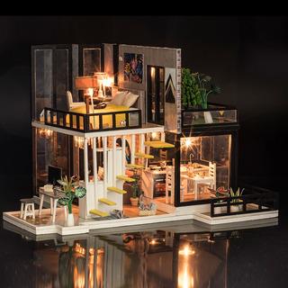 Kits De Construcción En Miniatura De Casa De Muñecas De Tama