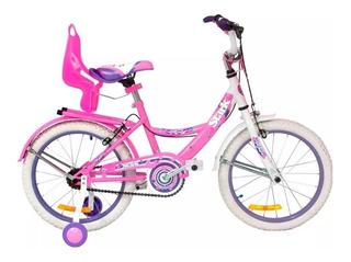 Bicicleta Playera Stark 6094 Rodado 14 Dama Flowers