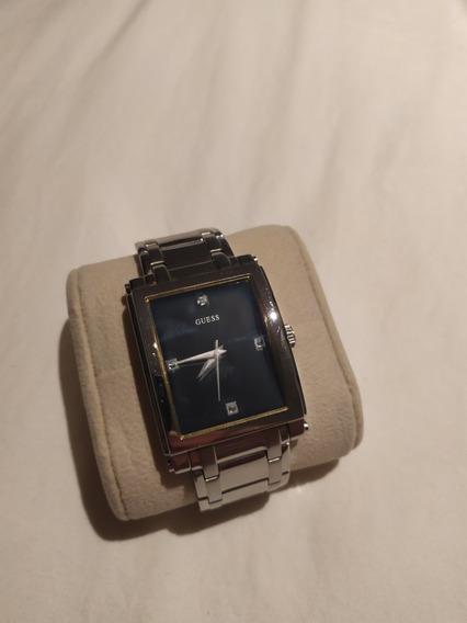 Relógio Guess - Retangular - Fundo Azul