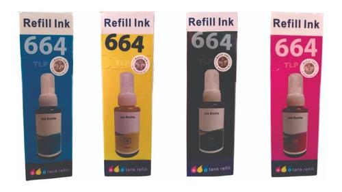Imagen 1 de 5 de Tinta Para Impresoras Dye Serie L Código 664 Genérica Cmyk