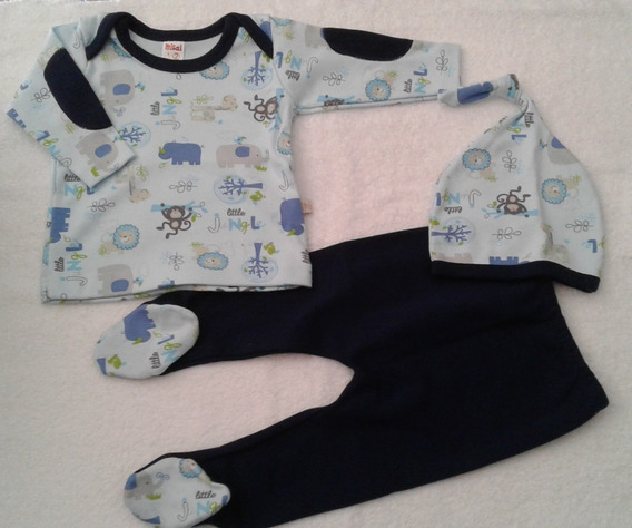 Conjunto De Bebe 3 Piezas: Camiseta Pantalón Gorrito