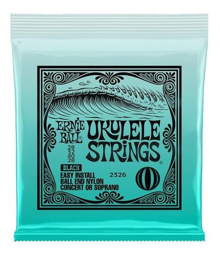 Imagem 1 de 4 de Encordamento Ernie Ball Ukulele Soprano Concert 2326 Usa