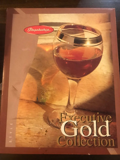 Pasabahce Executive Gold Collection Vasos