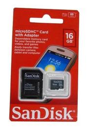 Kit Com 4 Cartão De Memoria Sandisk 16 Gb 100% Original