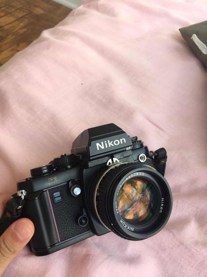 Nikon F3 Hp + Lente 50mm F/1.4 Com 5 Meses De Garantia