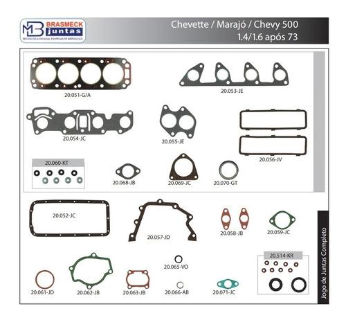 Jogo Junta Motor Chevete Chev Marajo 1.4 1.6