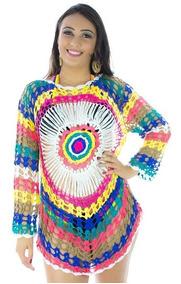 Saída De Praia Piscina Trico Crochê Verão Moda Blogueira
