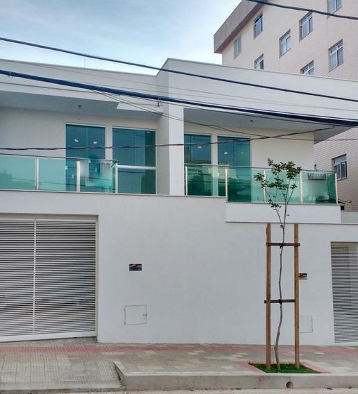 Casa Geminada Com 4 Quartos Para Comprar No Castelo Em Belo Horizonte/mg - Atc3265