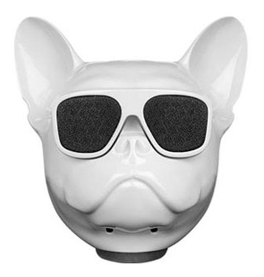 Caixa De Som Bluetooth - Bulldog Frances Up4you- Branco