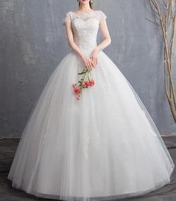Vestido De Noiva 12 Evangelica Completo Saiote Véu Barato