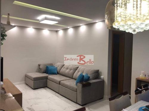Lindo Apartamento  De 60 M² A Venda Em Itatiba De Excelente Acabamento E Móveis Planejados De Qualidade E Bom Gosto... - Ap0595
