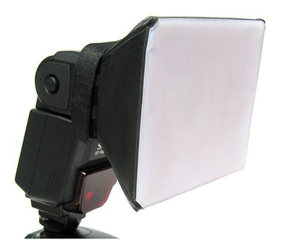 Difusor Flash Mini Softbox Universal Dobrável P/ Speedlight