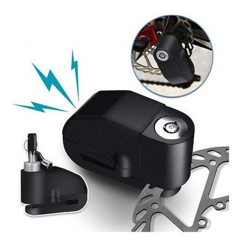 Candado Freno De Disco Con Alarma 110 Db Moto Bicicleta 303