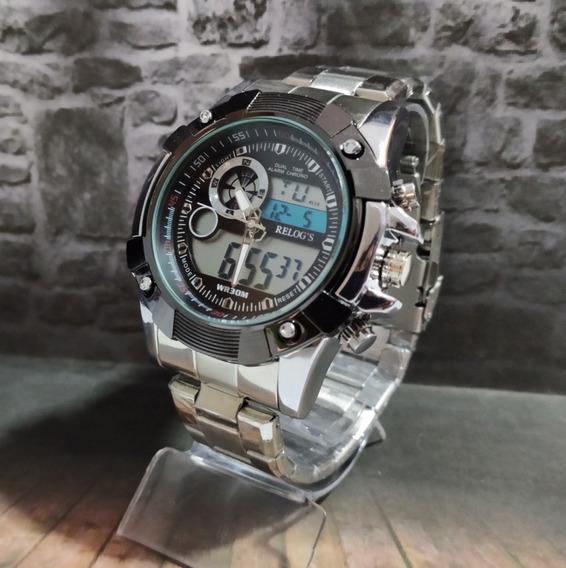 Relógio Digital Barato Em Aço Inoxidável Frete Grátis+caixa