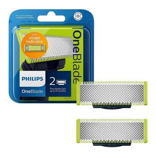 2 Repuestos De Rasuradora Philips Norelco Cuchilla Oneblade