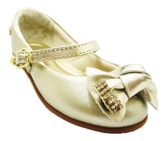 Sapato Infantil Guty Dourado 29160 Da Pé Com Pé -imperdível!