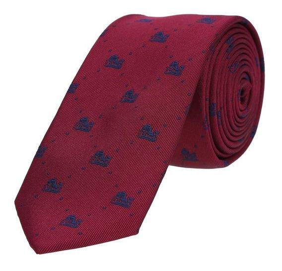 Corbata Royal Flush Texturizada Con Grabado De Perrito Polié
