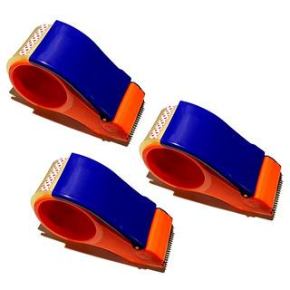 3 Suporte Aplicador Com Fita Adesiva 48mm X 50m P/ Embalagem