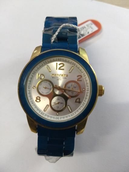 Relógio Analógico Azul Mondaine Multifuncional