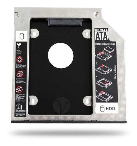 Imagem 1 de 4 de Drive Caddy Para Hd Ssd 9.5mm Notebook Dell Adaptador De Dvd